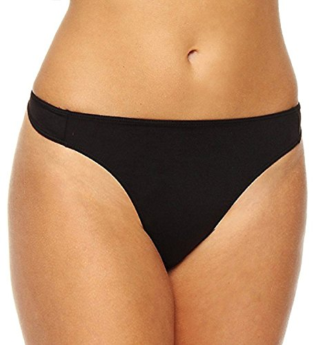 Elita Silk Magic Hi-waist Thong, MEDIUM, Ebony