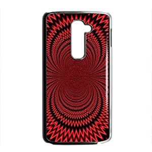 Artistic aesthetic red fractal fashion phone case for LG G2