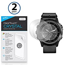 Garmin Tactix Bravo Screen Protector, BoxWave® [ClearTouch Crystal (2-Pack)] HD Film Skin - Shields From Scratches for Garmin Tactix Bravo