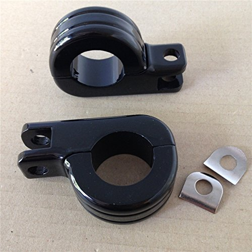 Motorcycle 1.5'' Engine Guard Footpeg P Clamps for YAMAHA XV250 Roadstar XV1700 XV1600 BLACK
