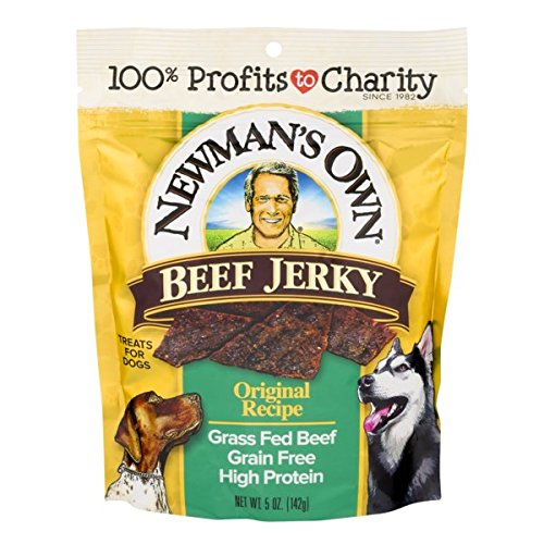 - Newman'S Own Beef Jerky Treats For Dogs, Original Recipe, 5-Oz.