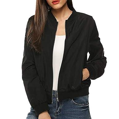 Women Jacket, Kulywon Womens Classic Quilted Jacket Short ...