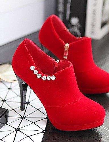 a Tacco Evento Sera Uk3 Scarpe scarpe tacco Plateau Nero tonda spillo Rosso Eu35 rosso Casual Donna Punta us5 Cn34 Vestito Ggx w1I8Hq0Xq