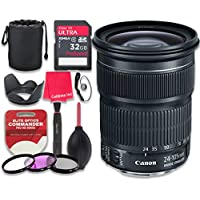 Canon EF 24–105mm f/3.5–5.6 IS STM Lens with 32GB Ultra Pro Speed Class 10 SDHC Memory Card + 3pc Filter Kit (UV-FLD-CPL) + Deluxe Sleeve + Celltime Microfiber Cleaning Cloth - International Version