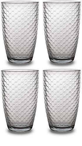 Circleware Hive Drinking Glasses Set of 4, 16 Ounce, Editon