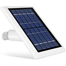 Solar Panel for Ring Spotlight Camera , Power your Ring Spotlight Cam continuously with our new Solar Charger– by Wasserstein (White)