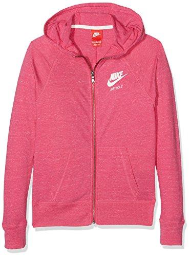 Nike Vintage Jersey - NIKE Girl's Sportswear Gym Vintage Hoodie Vivid Pink/Sail Size Large