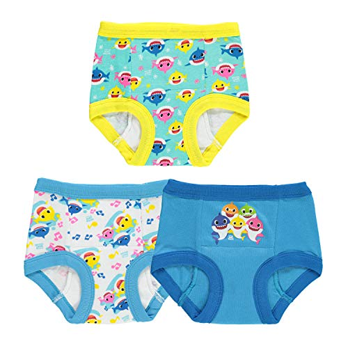 Baby Shark Baby Potty Training Pant Multipacks, Shark Blue 3pk, 2T