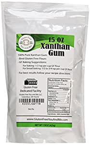 Xanthan Gum Gluten Free (15 oz) - Packaged & Filled in a Dedicated Gluten & Nut Free Facility in the USA