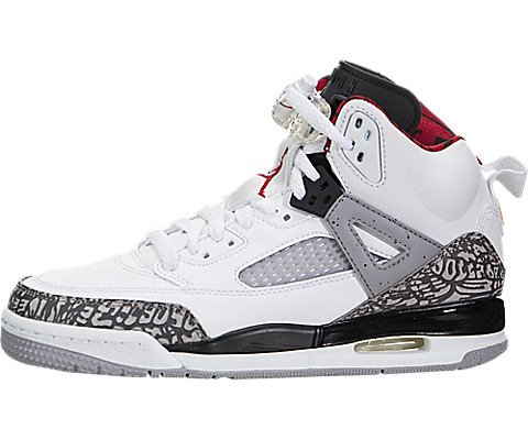 Nike Jordan Kids Spizike BG Basketball Shoe White/Grey/Red (4 Mars Jordan)