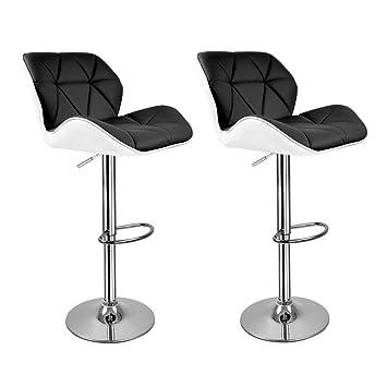 Hollylife 2*sillas de bar de cuero de alta calidad para barra de ...