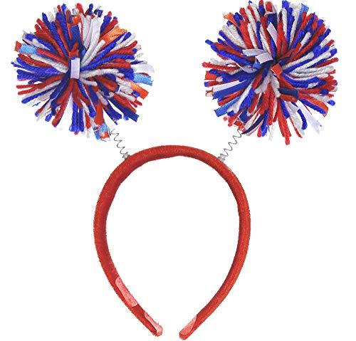 All -American Fourth of July Mini Pom Pom Headbopper Accessory, Fabric, 9