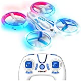 Force1 UFO 4000 LED Mini Drones for Kids - Small RC Drones for Beginners w/ 2 Quadcopter Batteries