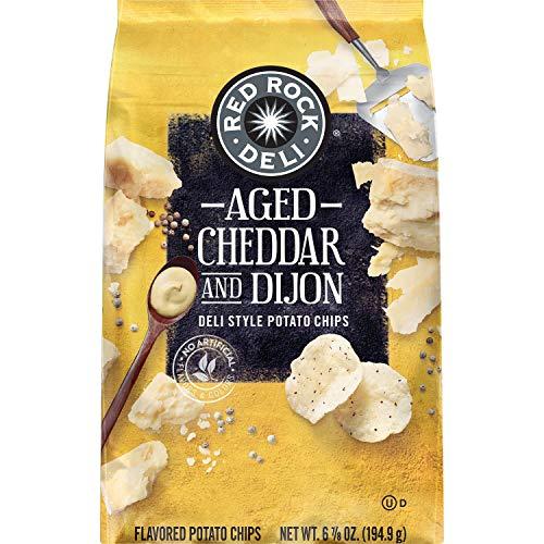 Red Rock Deli Potato Chips, Aged Cheddar & Dijon, 6.875oz bag