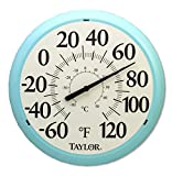 Taylor Big and Bold Dial Thermometer, 13.25-Inch, Sky Blue
