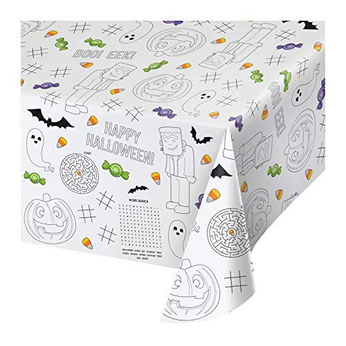 Halloween Coloring Papers (Halloween Paper Activity Tablecloth, 3)
