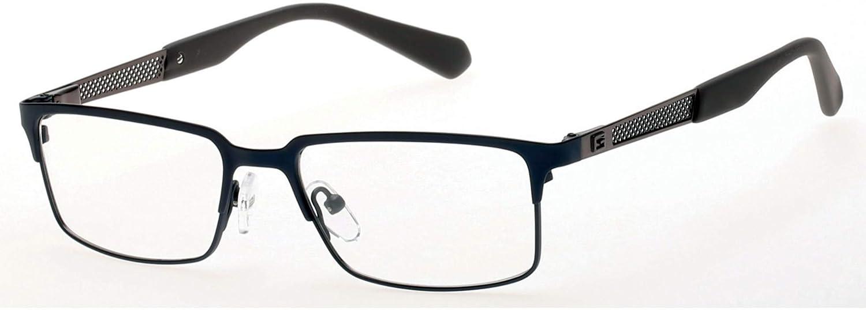 5159b30367 Guess Men s Eyeglasses GU1861 GU 1861 091 Dark Blue Brown Optical Frame  53mm at Amazon Men s Clothing store