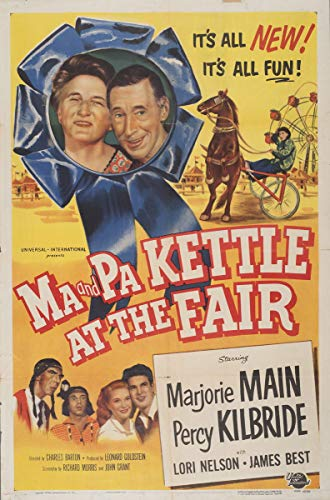 Berkin Arts Movie Poster Giclee Print On Canvas-Film Poster Reproduction Wall Decor(Ma and Pa Kettle at The Fair 2) #XFB (Ma And Pa Kettle At The Fair)