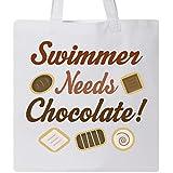 Inktastic - Swimmer Chocolate Tote Bag White e11c