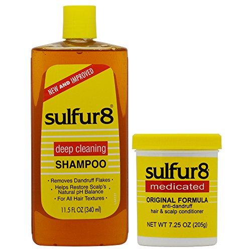 - Sulfur8 Anti-Dandruff Hair & Scalp Care Shampoo 11.5oz + Conditioner 7.25oz Duo