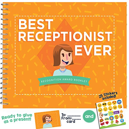 Best Receptionist Ever Book - This 24-Page Booklet is The Perfect Gift for Your Front Desk Assistant - It Comes with Quotes and Funny Designs That Make i, The Most Original Present Idea for Employees