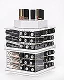 Zahra Beauty Spinning Lipstick Tower- Classy White- The Best Lipstick Holder, Holds 81 Lipsticks