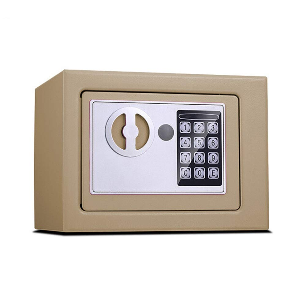 ZCF Security Safes Safe Box, Digital Small Steel Electronic Safe Deposit Box Anti-theft Safes With Lock Keypad for Money Jewelry Security Cabinet (Color : Style3, Size : 23x17x17cm) by ZCF safe