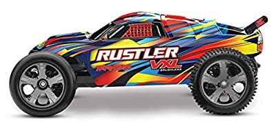 Rustler VXL: 1/10 Scale 2wd Brushless Stadium Truck. Ready-To-Race with Traxxas Stability Management,