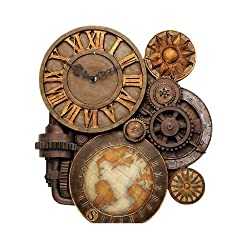 18 Collectible Classic Gears of Time Sculptural Wall Clock