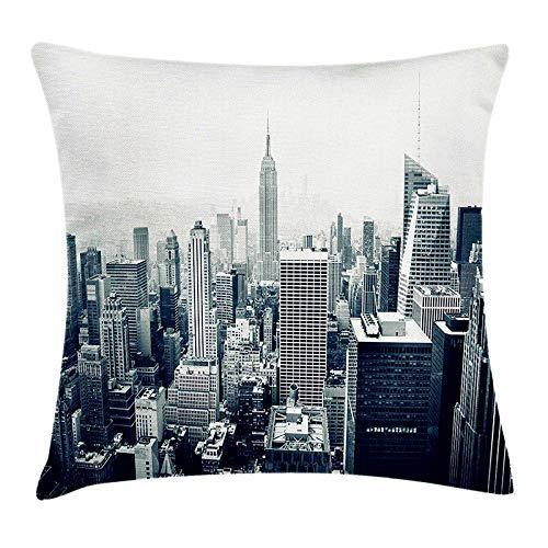 KOOMIN Acelive 18x18 Inches Retro London Big Ben Underground Burlap Cushion Covers Pillow Case for Sofa -