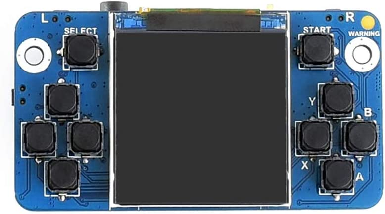 Waveshare Tiny GamePi15 Designed for Raspberry Pi Zero//Zero W//Zero WH//A+//B+//2B//3B//3B+//3A 1.54inch Display 240/×240 Resolution Full-Functional Game Console Onboard Speaker Earphone Jack Volume Knob