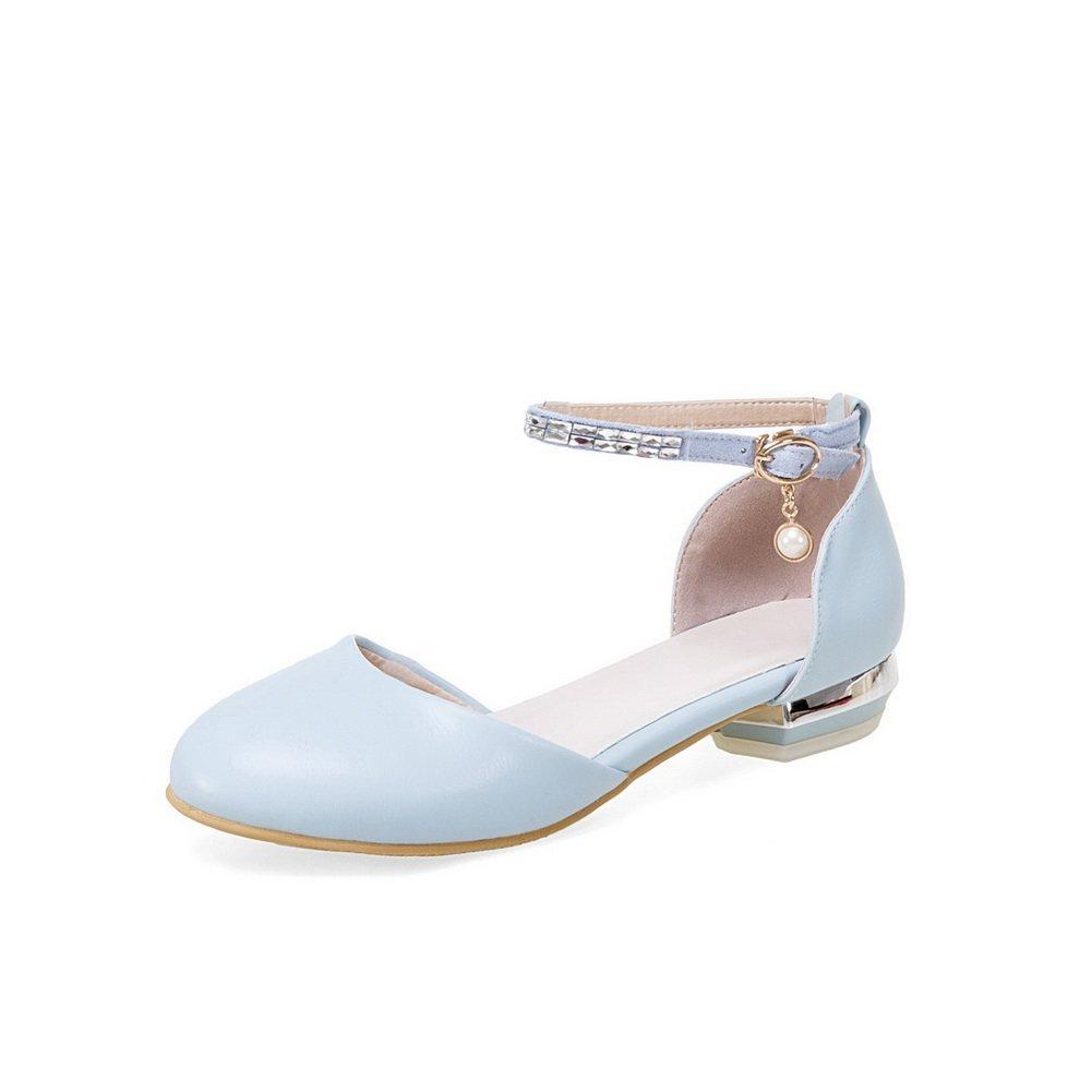 AdeeSu SLC04267 - Sandalias con cuña Mujer 42 2/3 EU Azul