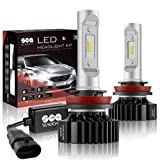 2002 rsx headlight assembly - H11/H8/H9 LED Headlight Bulbs Conversion Kit, DOT Approved, SEALIGHT X1 Series 12x CSP Chips - 6000LM 6000K Xenon White Non-polarity (2 Pack)