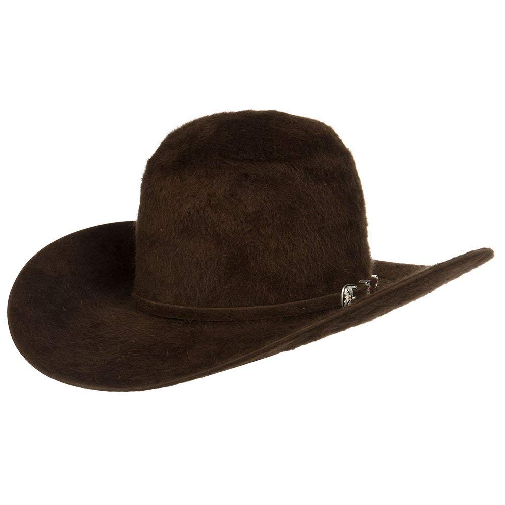c7d6e6682e46a American Hat Company Mens 20X Chocolate Grizzly Felt Hat 4 1 4 Brim at  Amazon Men s Clothing store
