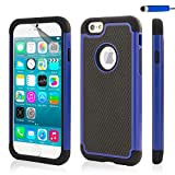 32nd ShockProof Series - Dual-Layer Shock and Kids Proof Case Cover for Apple iPhone 6 & 6S, Heavy Duty Defender Style Case - Deep Blue