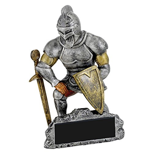 Awards and Gifts R Us Customizable Knight Mascot Trophy, includes Personalization