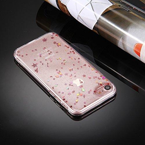 Phone case & Hülle Für iPhone 6 Plus / 6s Plus, Transparente Sterne Mond Glitter Powder Soft TPU Schutzhülle
