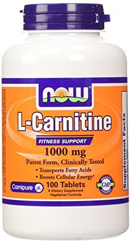 NOW Foods L- Carnitine Tartrate 1000mg, 100 Tablets by Now Foods