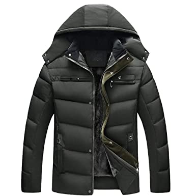 66a3c71bfc7 Amazon.com  Toponly Hooded Thick Coat Men s Slim Warm Jacket Hooded ...