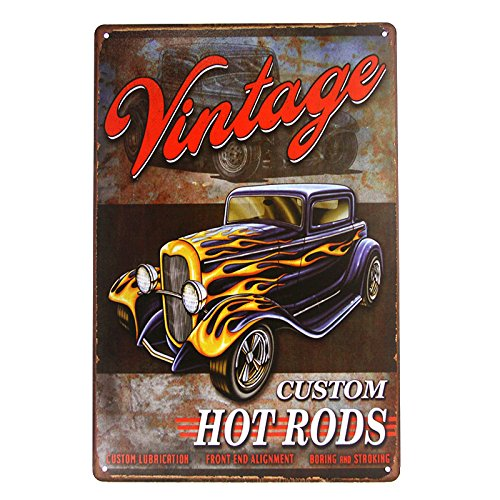 DL-Legends Hot Rod Garage Rat Rods Gas Vintage Retro Wall Decor Metal Plate Sign ()