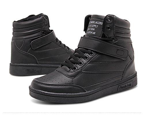 for Wedges Women High Yellow Sneakers Heel Platform Sneakers Hightop Walking Black Pink Black 6fqfnwr5