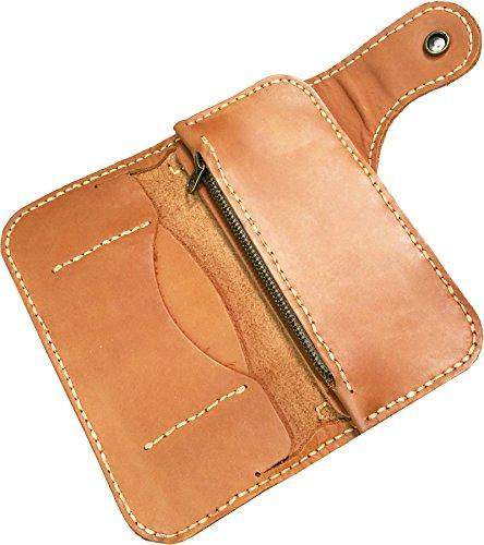 fold Leather Luxury D'SHARK Men's Brown Bi Wallet Genuine Biker q41IYwOI