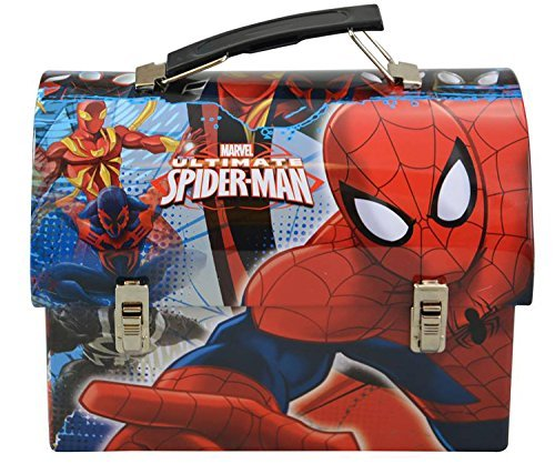 Mozlly Multipack - Marvel Comics Ultimate Spider-Man Stainless Steel Utility Tin Lunch Box (Pack of 3) (Tin Man Lunch Spider Box)