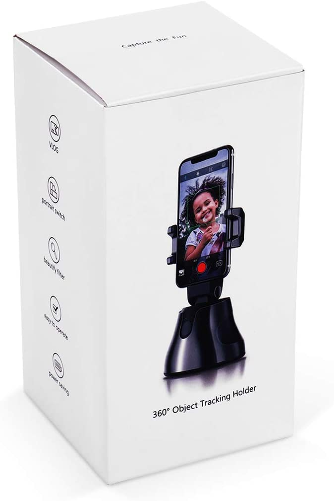 360 /° Rotaci/ón Auto Cara Seguimiento de Objetos C/ámara de Disparo Inteligente Soporte para Tel/éfono Cuenta Regresiva Autom/ática Seguimiento Selfie Montaje Baluue Selfie Stick
