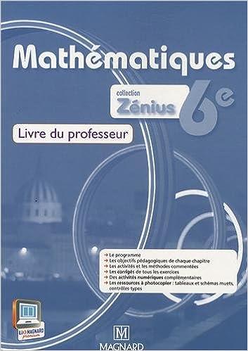 Livres gratuits Mathématiques 6e : Livre du professeur epub, pdf
