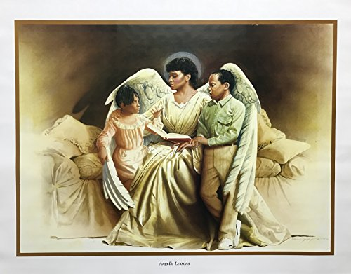 Unframed Print Angelic Lessons, (Legends/School / Education/Kids Room/African American Black Art / 3 (I) - 22x28-31) 22x28 Inch Edward Clay Wright, Art Print & ()