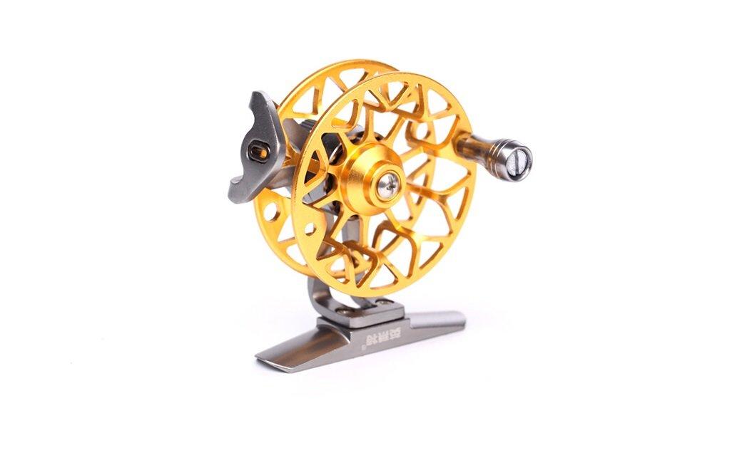 yinglaite ld50メタルフライリール釣りタックルフロントドラッグリールギア比1 : 1右手イエロー   B019CIG8UG