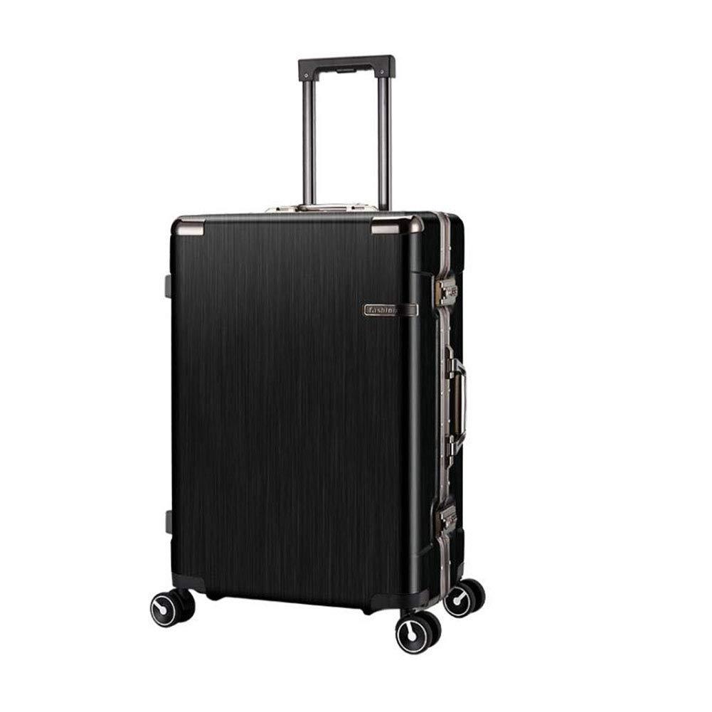 トロリーケース - サイレントユニバーサルホイール - 盗難防止 - ABS素材スーツケース - ウェアラブル防水および耐震性スーツケース,Black,20in 20in Black B07MQJXMZT