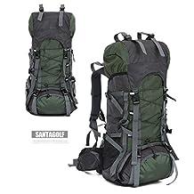 iSi 60L Huge Ultralight Outdoor Sport Camping Hiking Travel Internal Frame Backpack Waterproof Mountaineering Bag