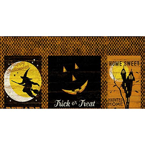 Clothworks Fabrics Jeepers Creepers Halloween Squares Panel]()